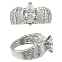 DESIGINER INSPIRED CZ RINGS - Pretty Marquise CZ Engagement Ring