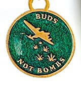Buds Not Bombs High Flyer O.G. Green Enamel Key Chain