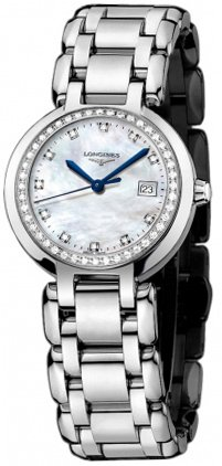 Longines PrimaLuna Stainless Steel & Diamond Womens Luxury Watch Calendar 26.5mm L8.110.0.87.6