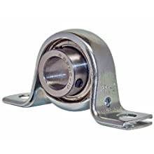 "SBPP202-10 Pillow Block Mounted Bearing, 2 Bolt, 5/8"" Inside Diameter, Set screw Lock, Steel, Inch"