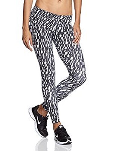 Nike Womens Leg A See All Over Print Leggings (Small, Black and White)