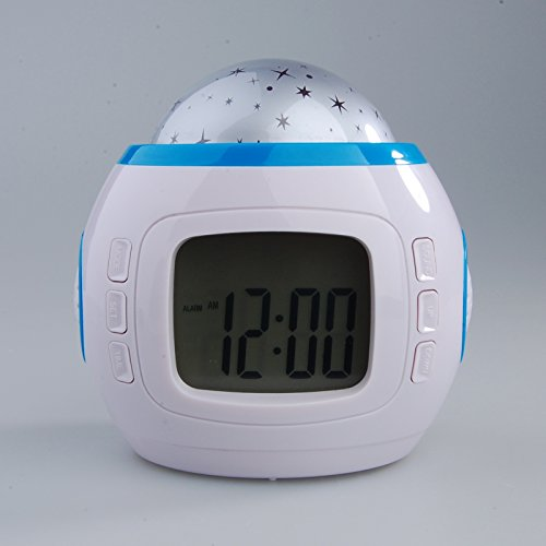 Hossen Starry Night Projector And Sound Shooter. With 6 Lullabies And 4 Nature Sounds. Large Lcd Alarm Clock