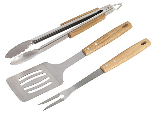 Sealey BBQ09 BBQ Tool with Acacia Wooden Handles, Set of 3