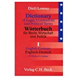 Dictionary of Legal Commercial and Political Terms: English German (0828838763) by Dietl, Clara-Erika