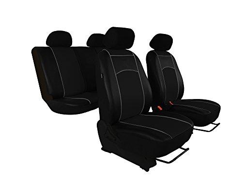 Sitzbezge-passend-PKW-fr-DESIGN-ECO-LEDER-In-diesem-Angebot-SCHWARZ-Komplett-besteht-aus-Sitzbezgen-Kopfsttzen-Montagehckchen