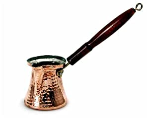 Turkish Coffee Pot with Wooden Handle