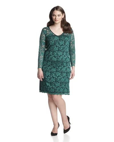 A.B.S by Allen Schwartz Plus Women's Lace Dress