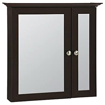 "RSI HOME PRODUCTS SALES CBB24-JAV Java Surface Mount Bi-View Medicine Cabinet, 25"" by 4.5"" by 24.75"""