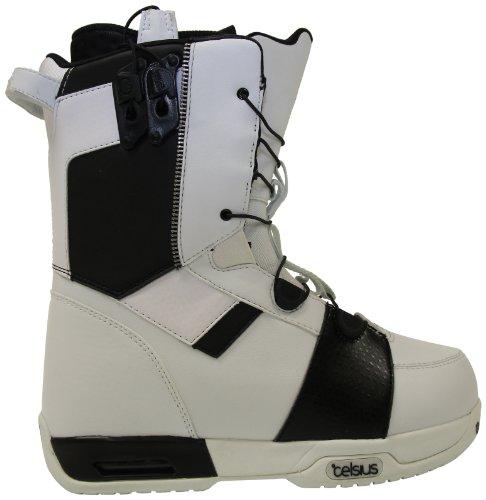 Celsius Men'S Cirrus-Ozone Speed Lace Snowboard Boot, White/Black, 12