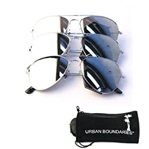 UB Mirror Lens Aviator Sunglasses 3-Pack