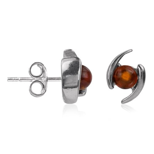 Baltic Honey Amber Sterling Silver Small Stud Earrings