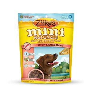 Zuke's Mini Naturals Dog Treats (6 Ounce/Salmon) Healthy, Biscuits, Chewy, Soft