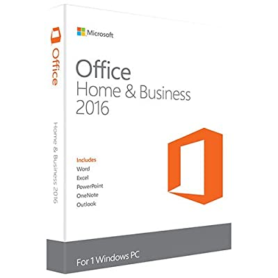 Microsoft Office Home And Business 2016 For Windows 7,8,10 (32Bit/64Bit) With Media Dvd Format (Word, Excel, Powerpoint, Onenote, Outlook 2016) For 1 Pc / User