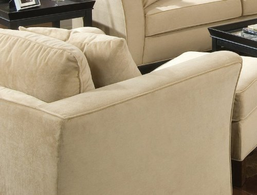 sofa chair cream velvet fabric
