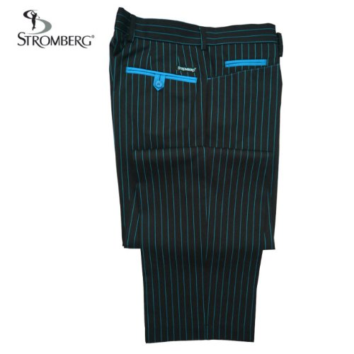 2012 Stromberg St Tropez II Funky Stripe Golf Trousers NEW OUT