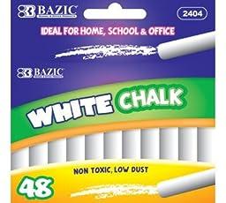 BAZIC White Chalk (48/Box), Case Pack 24