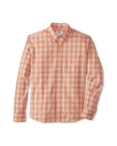 Cutter & Buck Men's Long Sleeve Cortland Dobby Plaid Shirt