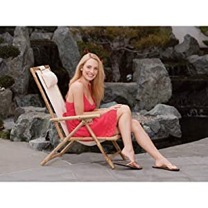 bamboo canvas folding chair