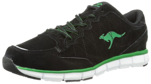 KangaROOS Womens Niberty Running Shoes Black Schwarz (black/green) Size: 7 (41 EU)
