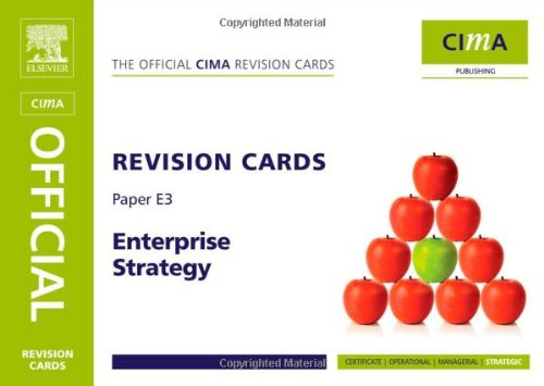CIMA Revision Cards Enterprise Strategy, Third Edition
