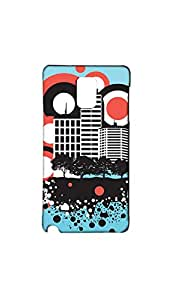 Abstract City Pattern Stylish Case/Cover For Samsung Galaxy Note 4