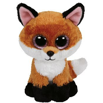"Slick the Fox Ty Beanie Boos 6"" - 1"