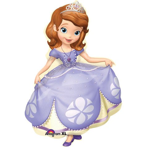 Sofia the First Supershape Foil Mylar Balloon (1ct)