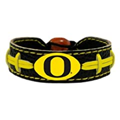 Buy NCAA Oregon Ducks Team Color Football Bracelet by GameWear