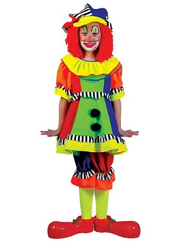 Funny Fashion Girls Spanky Stripes Kids Clown Costume