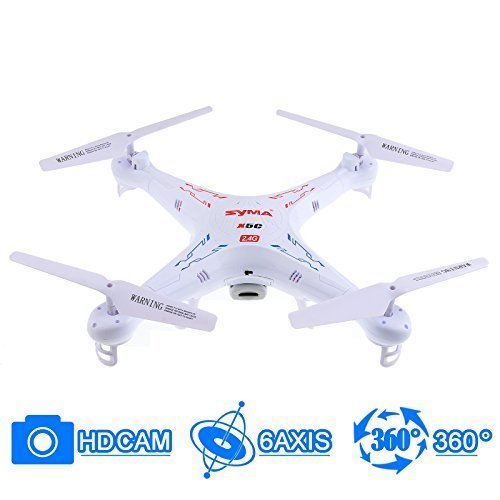 Syma X5C 4 Channel 2.4GHz RC Helicopter Explorers Quad Copter with Camera