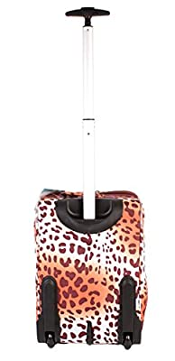 "TB1720-755CABIN 17"" Leopard Brown Lightweight Suitcase Hand Luggage Funky Bag"