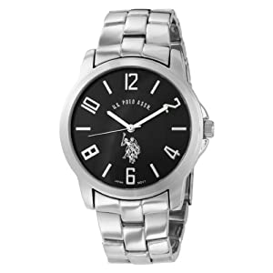 U.S. Polo Assn. Classic Men's USC80041 Analogue Black Dial Metal Link Watch