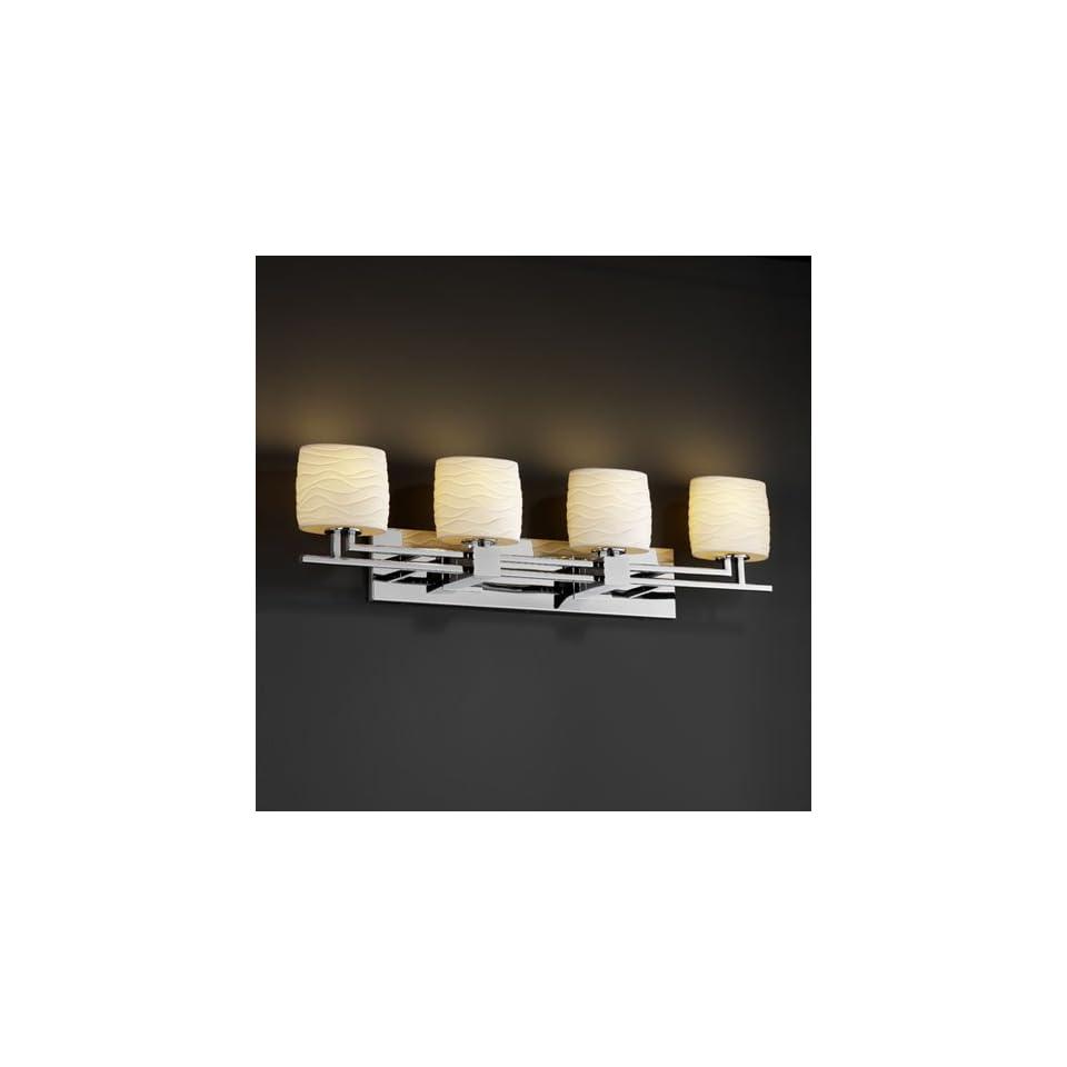Justice Design Group POR 8704 Aero 4 Light Bath Bar