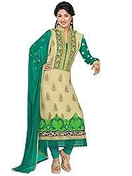 StarMart Green Georgette Churidaar Salwar Suit -SM-41008