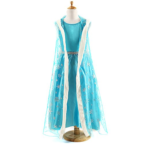 Kids Girl Halloween Cosplay Elsa Frozen Princess Anna Costume Party Ball Dresses