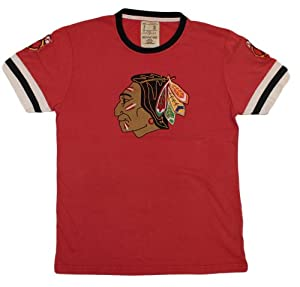 Chicago Blackhawks NHL Red Jacket Washed Cotton T-Shirt by American Needle