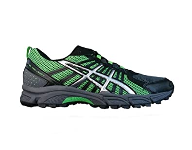 Asics Gel Trail Lahar 4 Mens Running sneakers / Shoes - Black & Green - SIZE US 6