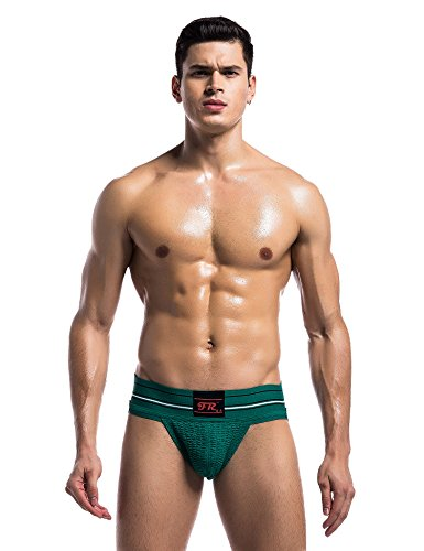 IYUNYI JockStrap Gym Athletic Performance Supporter with Cup Pocket for Mens (M, Green)