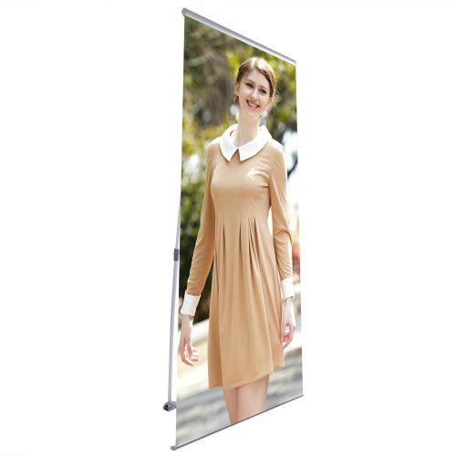 """32X79"""" Telescopic Retractable L Type Banner Stand Display Trade Show Exhibition"""