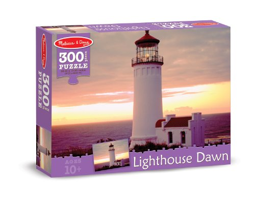 Melissa & Doug Lighthouse at Dusk Cardboard Jigsaw Puzzle, 300-Piece