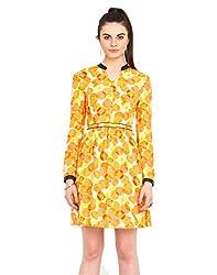 Chinese collar Print dress Large