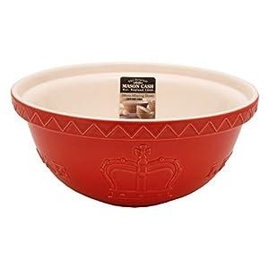 Mason Cash Red Jubilee 'Let Them Eat Cake' Mixing Bowl Ceramic 29cm 2006.072
