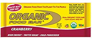 Organic Food Bar Cranberry, 12 Count