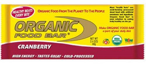 Organic Food Bar Cranberry, 12 Count