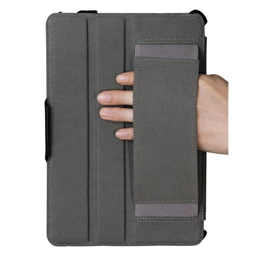 Poetic StrapBack Rigid Leather Wraped Case with Multi-Stand Options for The NEW iPad (3rd generation) / iPad 3 / iPad HD BLACK