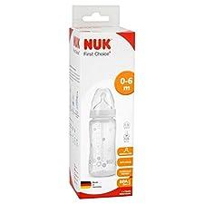 NUK First Choice Bouteille avec silicone Taille 1 Moyen Trou Tétine 300ml