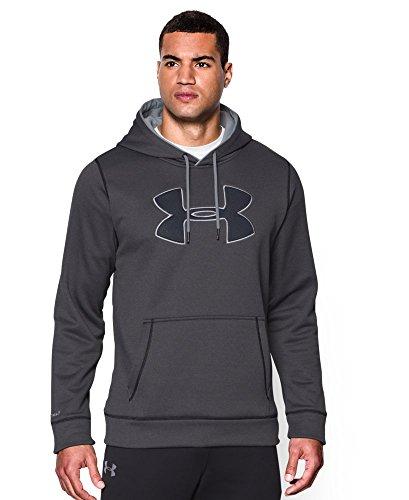 Under Armour Men's Fleece Big Logo Solid Hoodie, Carbon Heather (090), 3X-Large