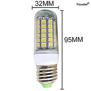 Focusled® 6x E27 LED Lamp SMD 8W Bulb Equivalent Corn Light Lamp Energy Saving Spotlight Warm White LED 810-850LM AC 200-240V from Focusled