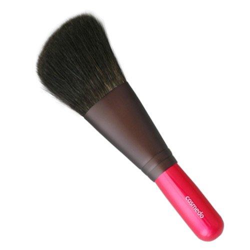 匠の化粧筆コスメ堂 熊野筆 ショートタイプ Pシリーズ 灰リス100%ナナメ フェイスブラシ