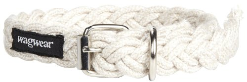 Wagwear Braided Fisherman Collar - White - Small